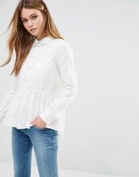 Рубашка с баской J.D.Y - Белый JDY