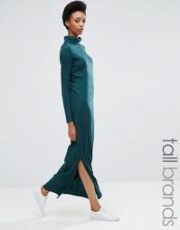 Трикотажное платье макси с высоким воротом Noisy May Tall - Зеленый