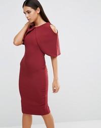 Платье-футляр с короткими рукавами Vesper - Красный