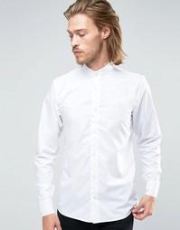 Рубашка скинни с воротом на пуговице Rogues of London - Белый