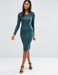 Трикотажное платье с леопардовым узором Madam Rage - Мульти