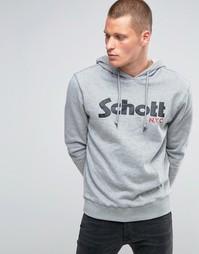 Худи с логотипом Schott - Серый