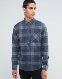 Рубашка в клетку Threadbare - Серый