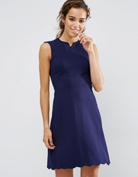 Приталенное платье Darling - Темно-синий