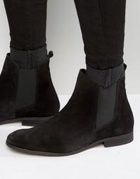 Замшевые ботинки челси Zign - Черный