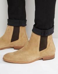 Замшевые ботинки челси Zign - Бежевый