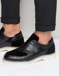 Туфли-оксфорды из кожи из замши Zign - Черный