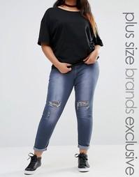 Супероблегающие джинсы с классической талией Liquor & Poker Plus - Серый