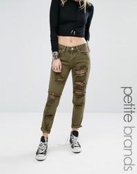 Рваные джинсы бойфренда Glamorous Petite - Зеленый