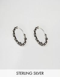 Серебряные серьги‑кольца 14 мм Reclaimed Vintage - Серебряный