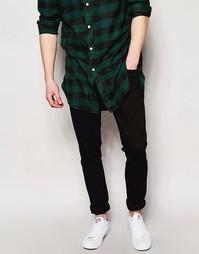 Выбеленные черные джинсы скинни Nudie Jeans Long John - Черный