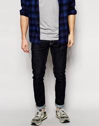 Облегающие джинсы скинни из выбеленной саржи Nudie Jeans Long John - Синий