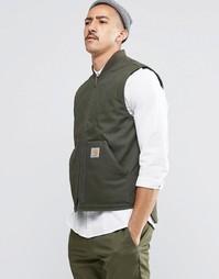 Парусиновая куртка-пилот без рукавов Carhartt WIP - Зеленый