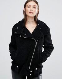Куртка из искусственной овечьей шерсти Blank NYC - Черный