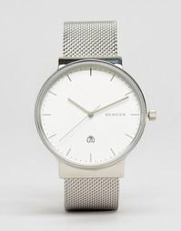 Серебристые часы Skagen Ancher SKW6290 - Серебряный