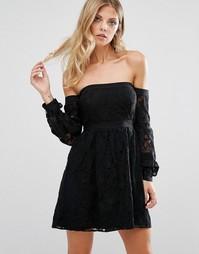 Платье с открытыми плечами For Love and Lemons Joelene - Черный
