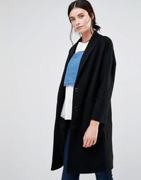 Черное пальто яйцевидной формы Helene Berman Ema - Черный