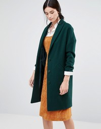 Зеленое пальто яйцевидной формы Helene Berman Ema - Зеленый