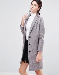 Твидовое пальто яйцевидной формы Helene Berman Ema - Мульти