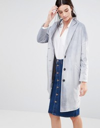 Серое фактурное пальто Helene Berman Ema - Серый