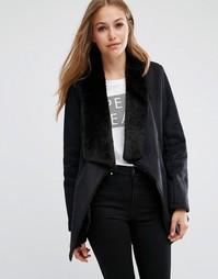 Замшевая каскадная куртка Pepe Jeans Laurie - Черный