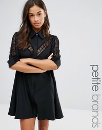 Платье с кружевными вставками Glamorous Petite - Черный