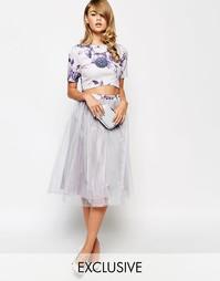 Юбка-клеш из тюля для выпускного True Violet - Фиолетовый