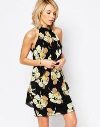 Цельнокройное платье с высокой горловиной Parisian - Мульти