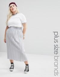 Плиссированная юбка миди Alice & You - Серебряный