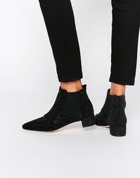 Кожаные ботинки челси Miista Beau - Черный