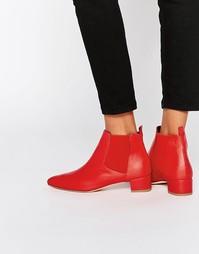 Кожаные ботинки челси Miista Beau - Красный