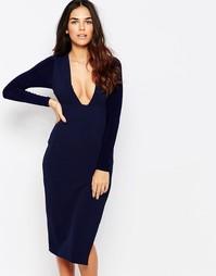 Платье с глубоким вырезом Hedonia - Темно-синий