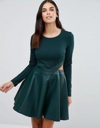 Приталенное платье Forever Unique Adela - Зеленый