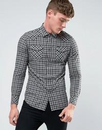 Рубашка в стиле вестерн в клетку Diesel S-Zule - Белый