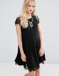Кружевное платье мини Hazel - Черный