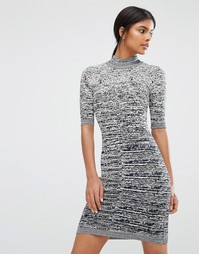Вязаное облегающее платье с короткими рукавами Y.A.S Grace - Мульти