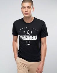 Черная футболка с принтом Nike Jordan 801556-010 - Черный