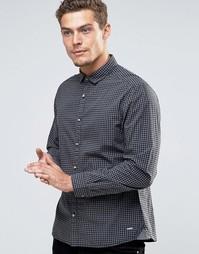 Рубашка в клетку Esprit - Черный