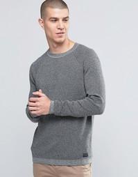 Топ с круглым вырезом и рукавами реглан Selected Homme - Серый