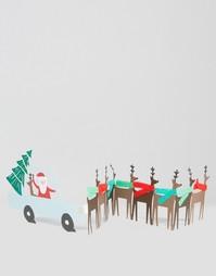 Рождественская открытка Meri Meri Santas Car - Мульти