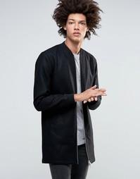 Удлиненная куртка‑пилот со стеганой подкладкой Minimum Hayman - Черный