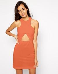 Облегающее платье с вырезом AQ AQ Monica - Розовый