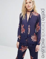Блузка в пижамном стиле с цветочным принтом Alter Petite - Мульти