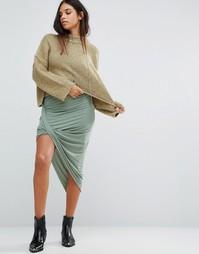 Асимметричная юбка Maison Scotch - Зеленый