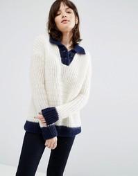 Джемпер в морском стиле MIH Jeans - Кремовый