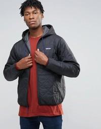 Черная стеганая куртка с капюшоном Patagonia - Черный