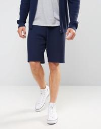 Вязаные шорты с узором косичка ASOS - Темно-синий