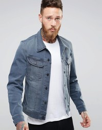 Серая джинсовая куртка узкого кроя Lee Rider - Серый
