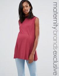 Свободный топ с оборками для беременных Bluebelle Maternity - Красный