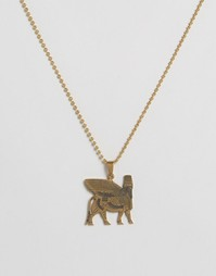 Ожерелье с иероглифами Seven London - Золотой